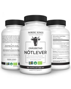 100% Grassfed & Organic beef liver capsules